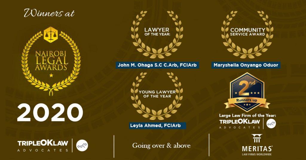 TripleOKLaw LLP wins at Nairobi Legal Awards