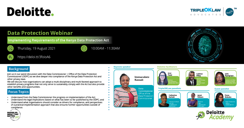 implementing the data protection act webinar