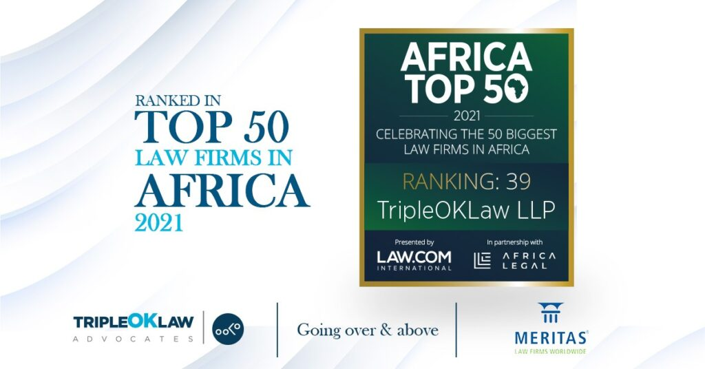 TripleOKLaw LLP ranked in top 50 african law firms list